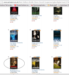 Amazon best seller number 16 Occult Suspense