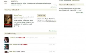 Goodreads Borderliners page screenshot
